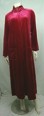 Joan Rivers Ladies House Robe Petite Small Red Long Sleeved Velour