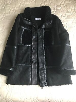 Young Versace Shearling Coat New Age 6 Rrp£800