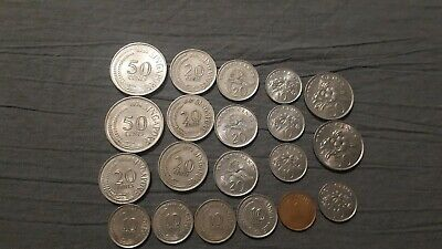 Singapore Coins 20 in total