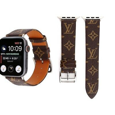 Louis Vuitton LV Apple Watch Strap Wristband For Iwatch 4/3 Leather 38/40 42/44