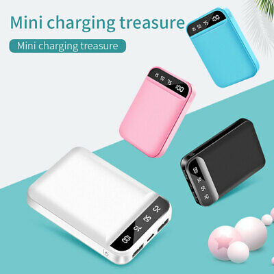 Mini Power Bank 10000mAh Dual USB Ports External Battery with LCD Display
