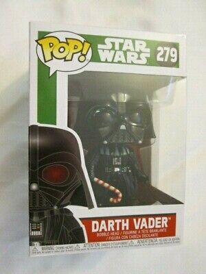 Darth Vader Holding Candy Cane Christmas Funko Pop! Rare! Mint!