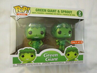 Green Giant & Sprout Funko Pop Ad Icons Target Exclusive! Mint Condition!