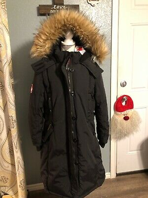 Womens Canada Weather Gear Black Long Heavyweight Hooded