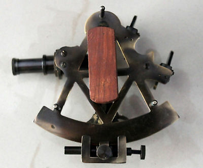 Vintage Sextant Collectible Antique Brass Working Maritime With Box Gift