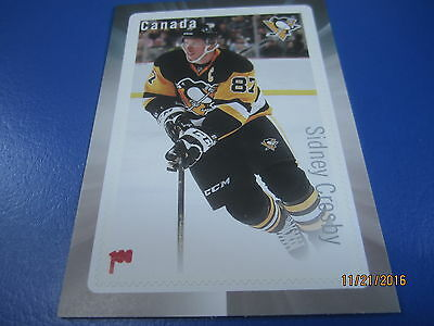 SIDNEY CROSBY Errors Ink Smudge on $1.80 Stamp 2016 Canada Post Hockey Card