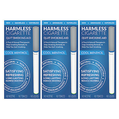 Harmless Cigarette Quit Smoking Aid Cool Menthol Flavored 3 Pack