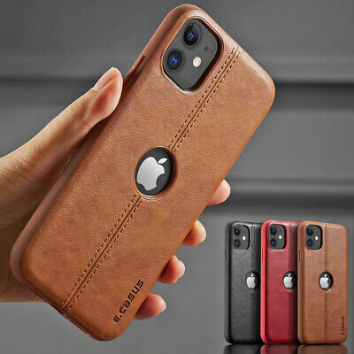 SLIM Leather Back Ultra Thin Luxury TPU Case Cover For iPhone 11 PRO MAX XS XR