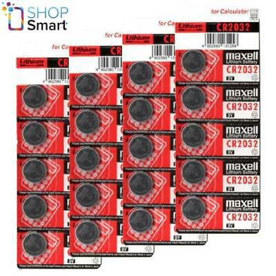 20 Maxell Cr2032 Lithium Batteries 3V Coin Cell Button Dl2032 Exp 2023 New