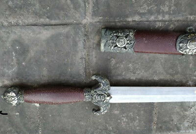 "Collectable Chinese Talisman ""Seven Stars Jian"" Sword Sharp Blade #12"