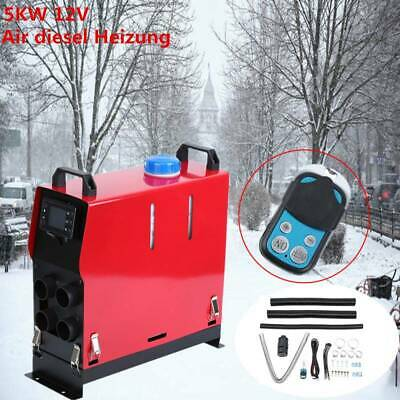 5000W 12V 5KW 4 Holes Diesel Air Heater Remote Control LCD Display For Motorhome