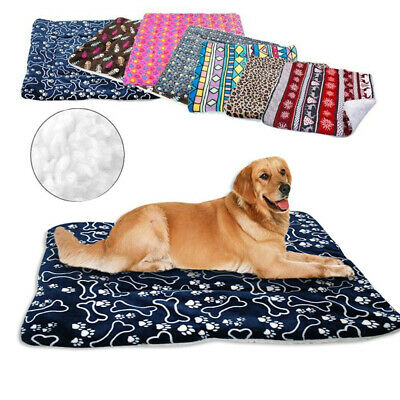 Large Dog Bed Indestructible Winter Plush Cushion Sleeping Mat for Kennel Crate