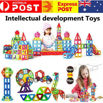 Magnetic Toy Building Blocks Set 3D Tiles DIY Toys Perfect Creative Kids Gift