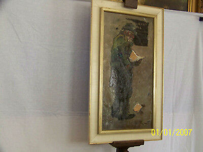 """Charles """"CH"""" Wilton Listed Artist Original Oil Mixed Media Painting"""