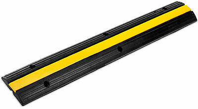 Rubber 1-Channel Cable Protector Car Ramp Bump Safety Cover Heavy Duty Max 7.5T