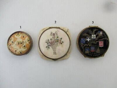 Collectable Lot of 3 Vintage Retro Ladies Cosmetic Powder Compact