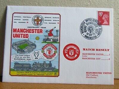 1978 Football League Collectors UK Cover - Manchester United v Manchester City