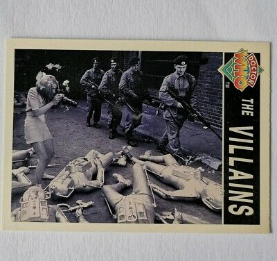 Rare Doctor Who Trading Card Of ( The Villains )