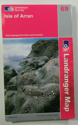 2007 Old Vintage OS Ordnance Survey Landranger 1:50 000 Map 69 Isle of Arran