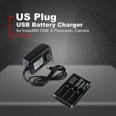 3 in1 Micro USB Battery Charger for Insta360 ONE X Panoramic Camera US Adapter I