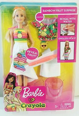 Barbie - Crayola - Rainbow Fruit Surprise 29cm Doll and Fashions (Mattel)