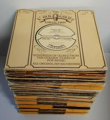 JOB LOT OF 100 x OLD GOLD SINGLES IN OLD GOLD SLEEVES - *LOOK* - *ALL LISTED*