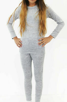 AGE 7-8 Yrs Girls Grey stipple 2-Piece Lounge Wear Tracksuit Jogging Bottoms Top