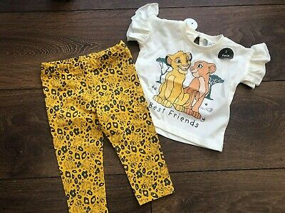 Primark Baby Girls Disney Lion Kong 2 Piece Set Bnwt All Ages