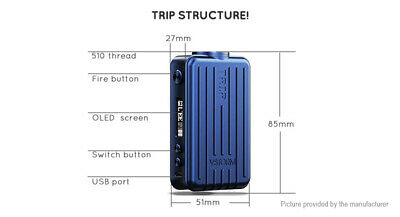 Authentic Vapor Storm Trip 200W VW TC APV Box Mod Red