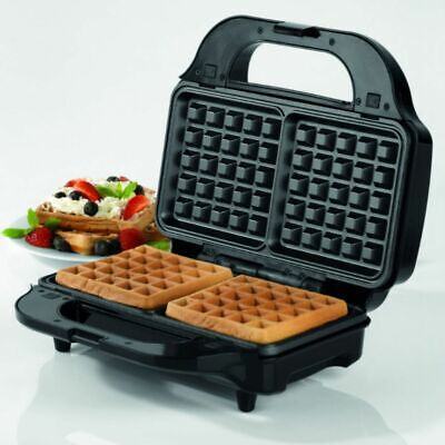 3-In-1 Sandwich & Waffle Maker Toaster Grill Deep Fill Non-Stick Coated Plate
