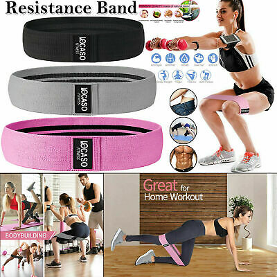 Fabric Resistance Bands - Heavy Duty Booty Bands   Non Slip   Glute Hip Circle.