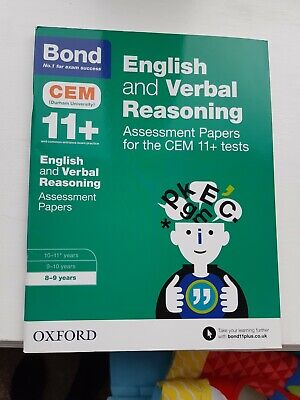 Bond 11+ Plus 8-9 English and Verbal Reasoning Assessment Papers.