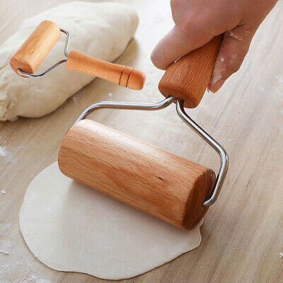 Kitchen Wooden Rolling Pin Fondant Cake Dough Roller Baking Kitchen Cookin VXU