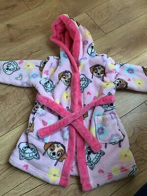 Girls Paw Patrol Dressing Gown Age 2-3 Years Skye Everest