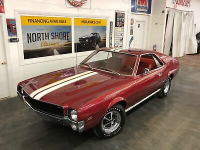 1968 AMC AMX - 343 V8 - 4 SPEED - SUPER CLEAN - SEE VIDEO AMC AMX Burgundy/Maroon with 74,703 Miles, for sale!