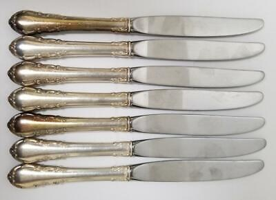 "Lunt Modern Victorian Sterling Silver 9"" Hollow Knives Lot of 7 No Mono 536.3g"