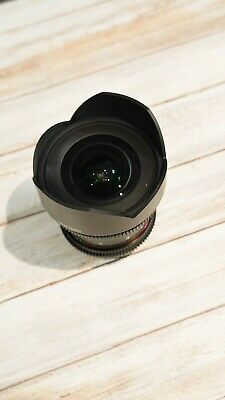 Samyang 14mm T3.1 VDSLR ED AS IF UMC II Lens in Canon EF Fit USED MINT CONDITION