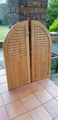 Large Heavy Wooden Window Shutters pair home decor