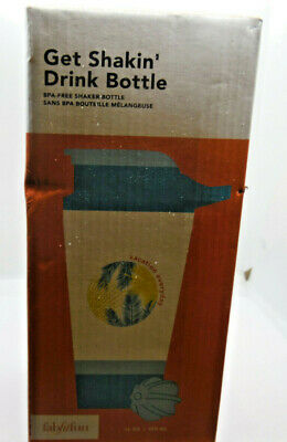 FabFitFun Get Shakin' Drink Bottle  16 oz / 450 ml Blue NEW in BOX