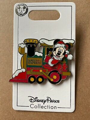 Disney Parks Mickey Mouse North Pole Express Train Christmas  Pin 2019