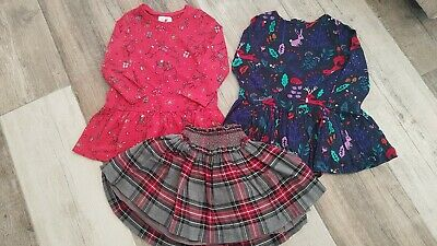 Girls NEXT/George/M&S Christmas/tartan Bundle Age 2-3 Excellent Condition