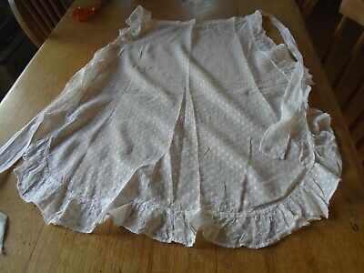 Antique Lawn Cotton  Maid's Apron