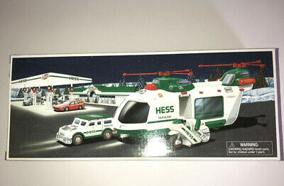 Hess 2001 Helicopter With Motorcycle And Cruiser Mint In Box  *