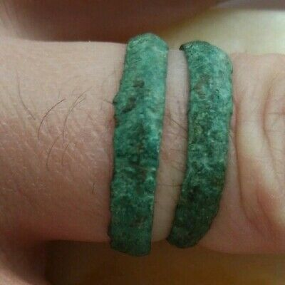 Ancient Viking old copper ring with an rarity 12-13 century.