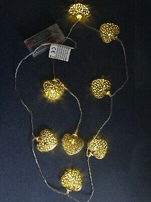 Anika 63150 Hanging Heart with 10 Battery Operated Warm White LED Lights Inside,