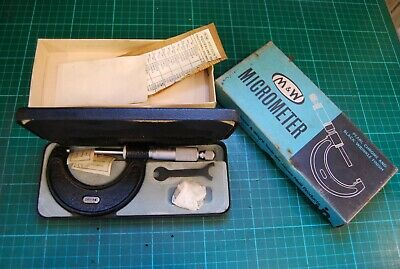 Moore and Wright metric micrometer. 25-50mm VGC used condition
