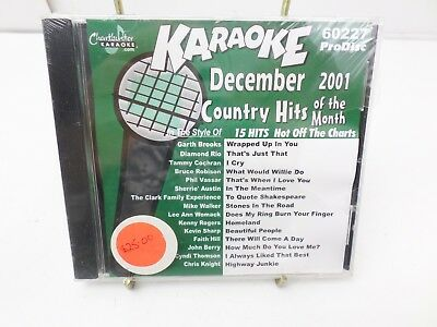 CHARTBUSTER KARAOKE DEC 2001 Country hits CD+G player needed new sealed 60227