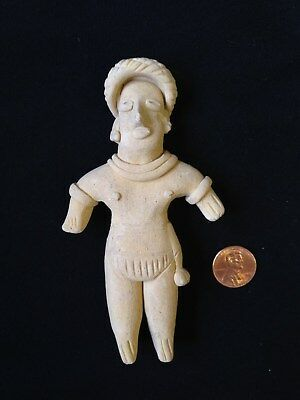 Pre-Columbian Colima Flat Figure 200 BC - 250 AD, solid clay.  NICE!