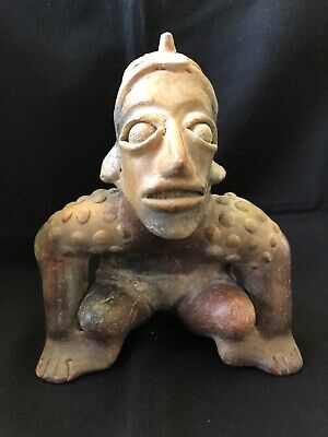 Pre-Columbian Jalisco Hunchback Seated Figure, 100 BC - 250 AD,  LARGE & NICE!
