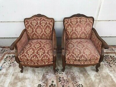Chippendalle Fauteuil-Sessel-Armlehnensessel-Chippendale-Polstersessel-Barock